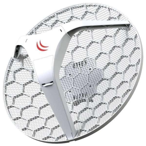 Mikrotik RBLHG-5nD Antena Grid 24.5dBi, potencia 25dBm. RouterBOARD para exteriores.