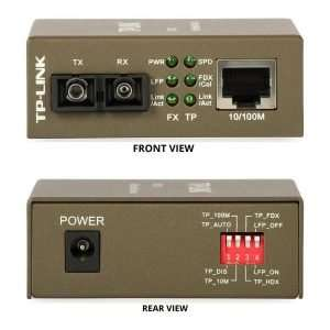 TP-Link MC110CS transceiver monomodo SC con tecnología WDM hasta 20Km con transmisión y recepción a 1310nm hasta 10/100Mbps con un puerto ethernet LAN.