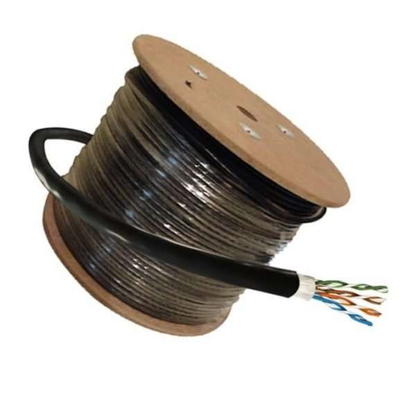 Rollo de cable AM-UTP6-E 305mts Cat6 outdoor