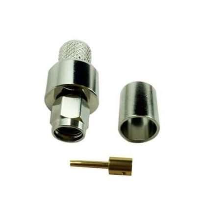 Conector ARSP-1404 RP-SMA macho crimp RG8