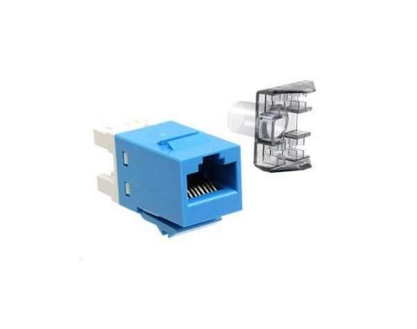 Conector Jack6 Categoría 6 color Azul