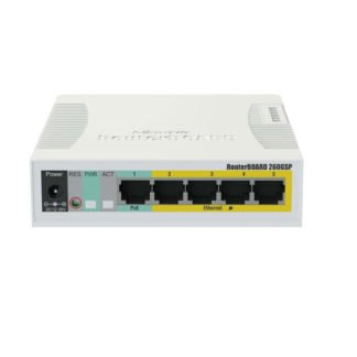 Switch RB260GSP 5 puertos PoE Gigabit Ethernet con 1 SFP