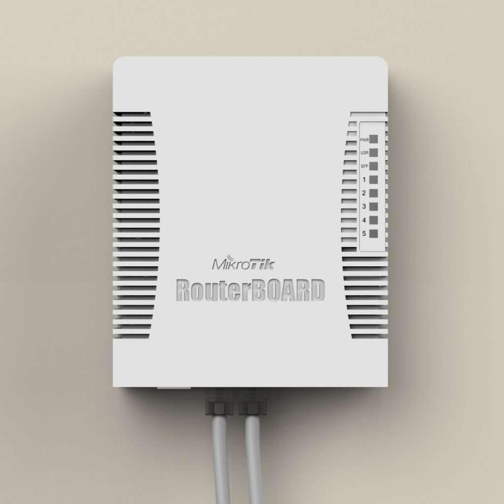 RB951G-2HND poderoso RouterBOARD con Wi-Fi 2.4Ghz de 1000mW de potencia, gigabit con función de hotspot Licencia nivel 4.