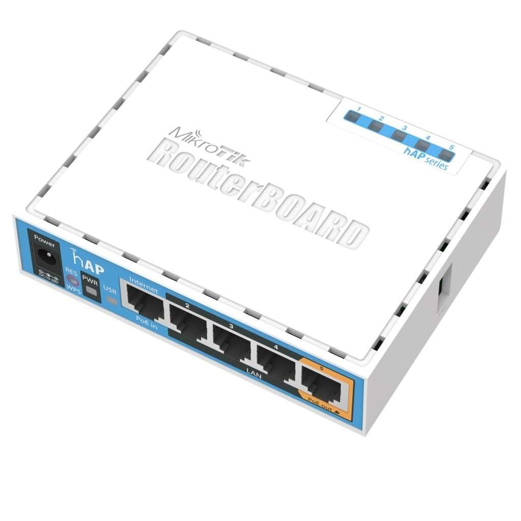 Mikrotik RB951Ui-2nD RouterBoard con Antena integrada de 1.5dBi, 650MHz 64MB RAM, potencia max. 22dBm para uso eninteriores. Lv4.