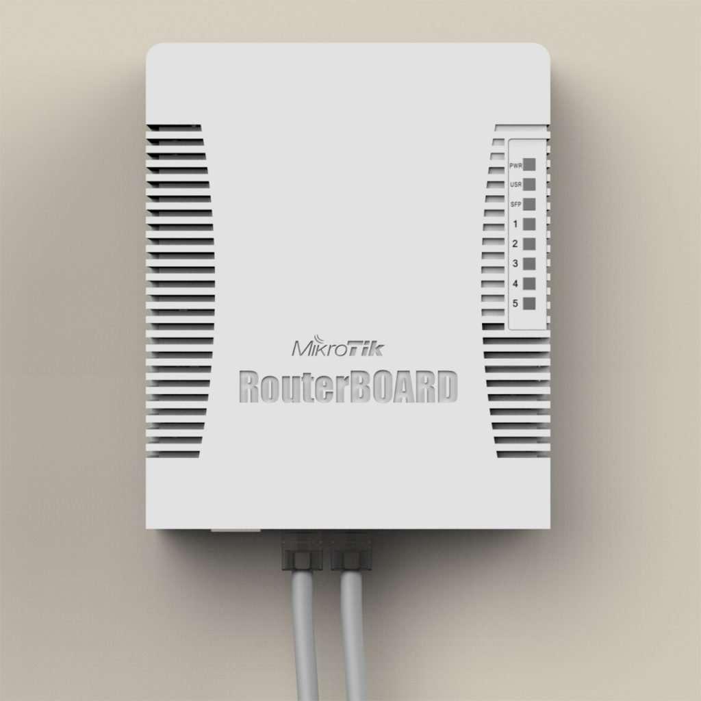 Router hAP AC vista montado en pared