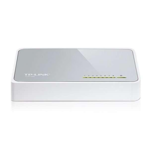 TP-Link Switch TL-SF1008D 8Puertos Ethernet 10/100Mbps con carcasa plástica. Para uso en interiores.