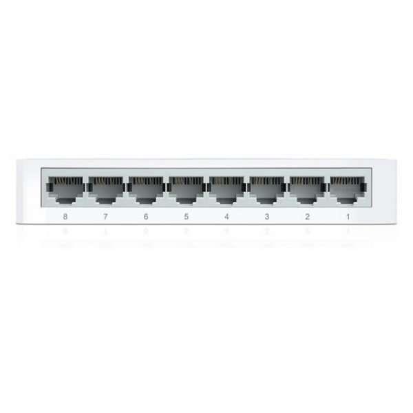 TP-Link Switch 8Puertos Ethernet 10/100Mbps con carcasa plástica. Para uso en interiores.