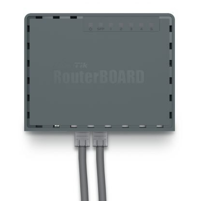 Router hEX S vista montado en pared