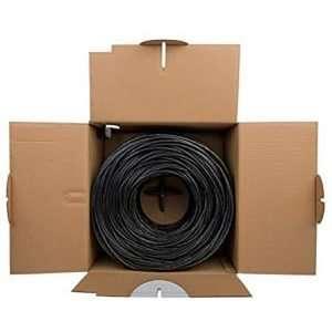 Rollo de cable FTP exteriores color negro