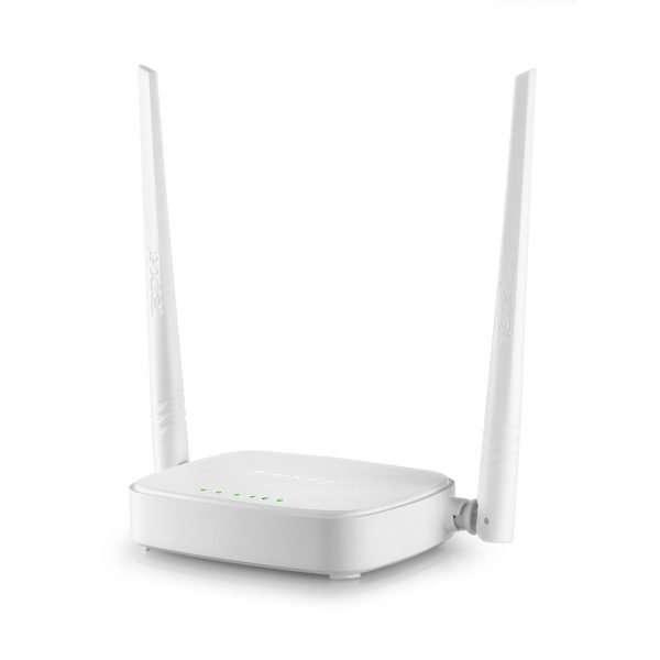 Router wifi con doble antena color blanco