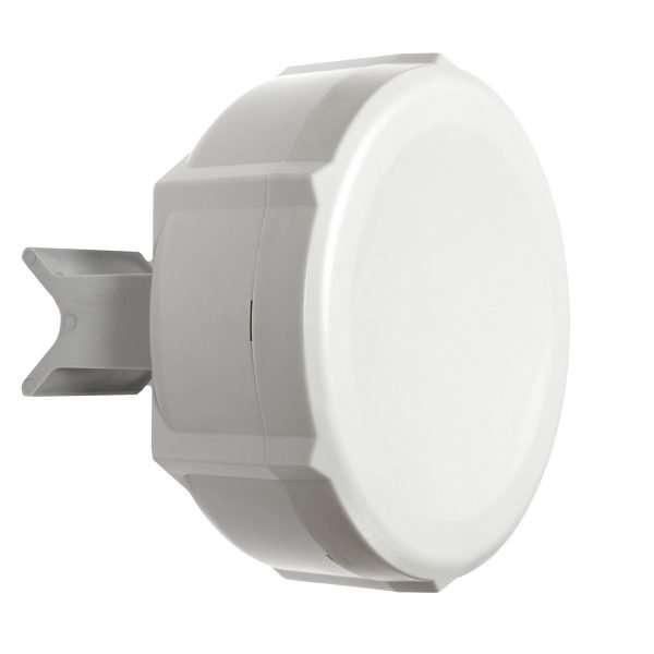 Antena blanca en fondo blanco