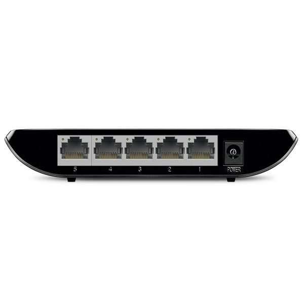 TP-Link TL-SG1005D Switch 5Puertos Gigabitcon carcasa plástica. Uso en interiores.