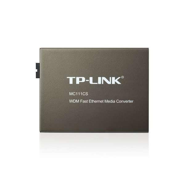 TP-Link MC111CS transceivermono modo SC a ethernet 10/100 hasta 20kmcon carcasa metálica. Uso en interiores.