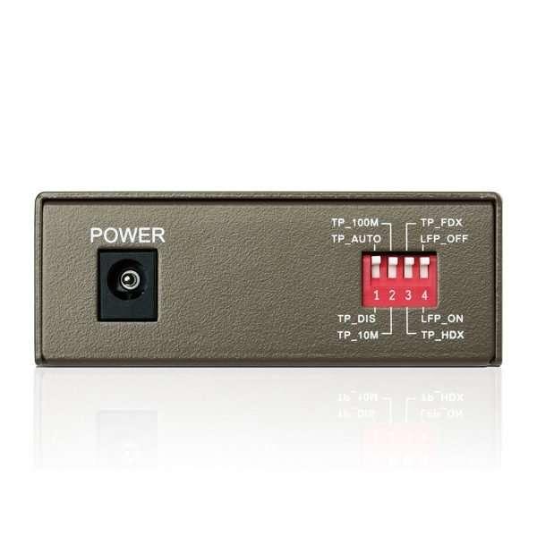 TP-Link MC112CS transceivermono modo SC a ethernet 10/100 hasta 20kmcon carcasa metálica. Uso en interiores.