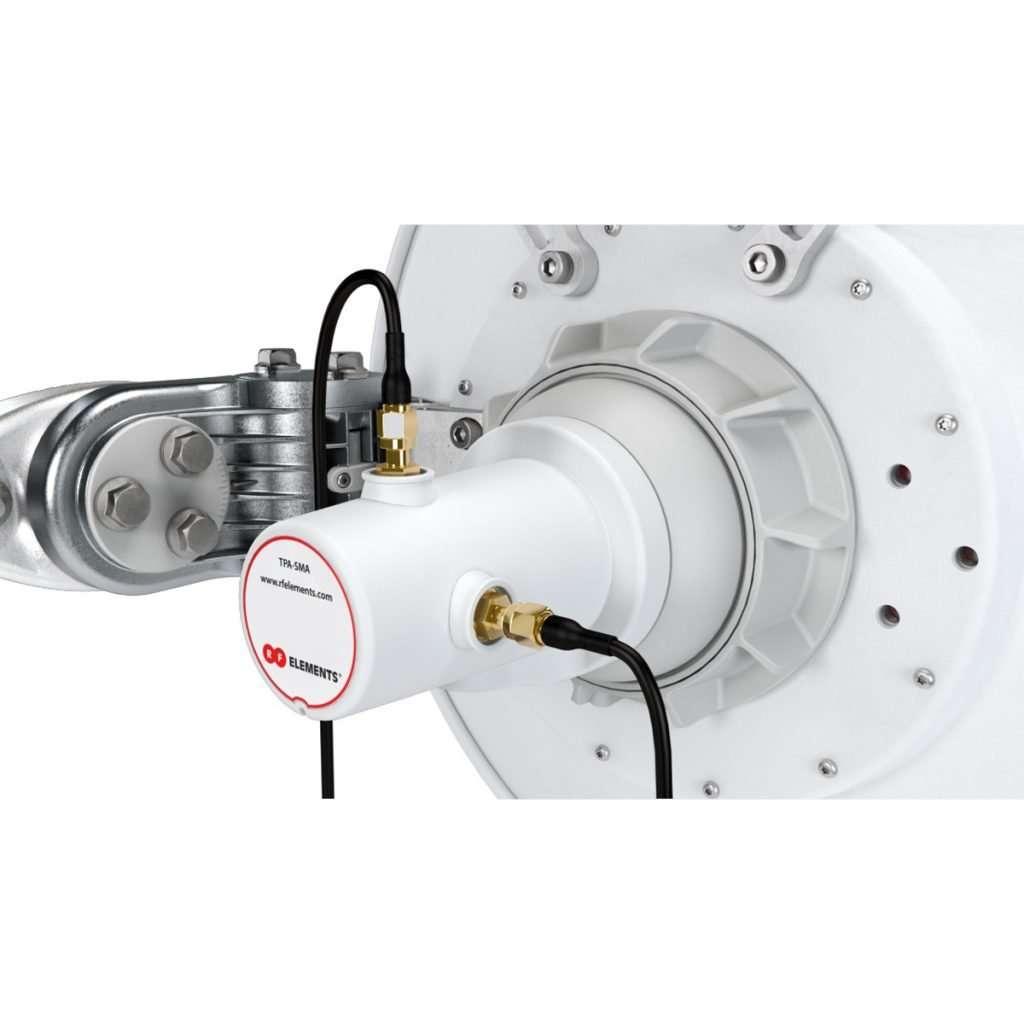 RF Elements TPA-SMA adaptador con conector TwistPortcon dos RP-SMA. No incluye cables ni pigtail. Para uso en exteriores.