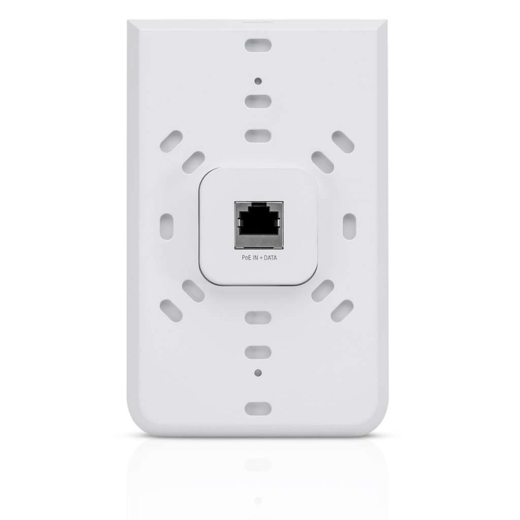Ubiquiti UAP-AC-IW UniFi con Antena integrada de 3dBi, potencia max. 20dBm. Fácil instalación en tomas de pared preexistentes, ideal para interiores.
