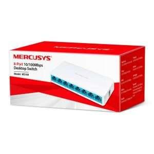 Mercursys MS108 Switch 8 Puertos ethernet con carcasa plástica. Uso en interiores.