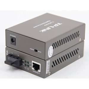 TP-Link MC210CS transceivermono modo SC/UPC a ethernet gigabit 10/100/1000 hasta 15kmcon carcasa metálica. Uso en interiores.