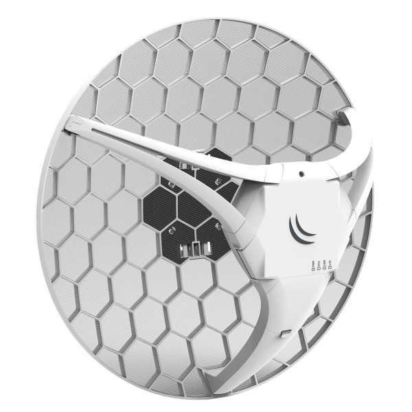Mikrotik RBLHGR&R11e-LTEAntena receptora LTE 4G 17dBi, ranura SIM, puerto LAN. Para uso en exteriores. Lv3. No incluye Plan celular.