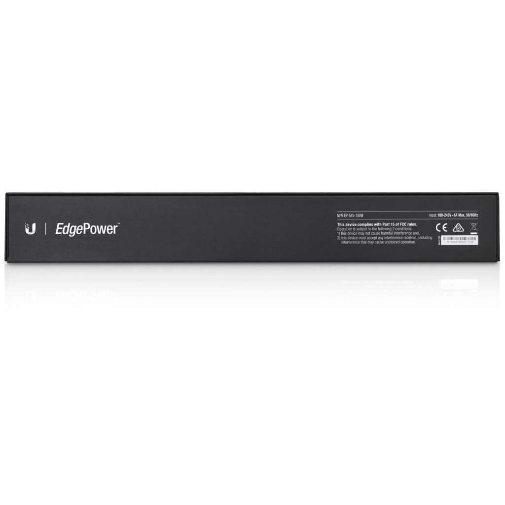 """Ubiquiti EdgePower EP-54V-150W PSU Administrable de 1 puerto LAN con 54V 150W para inyección PoE. Rackeable 1u 19""""."""