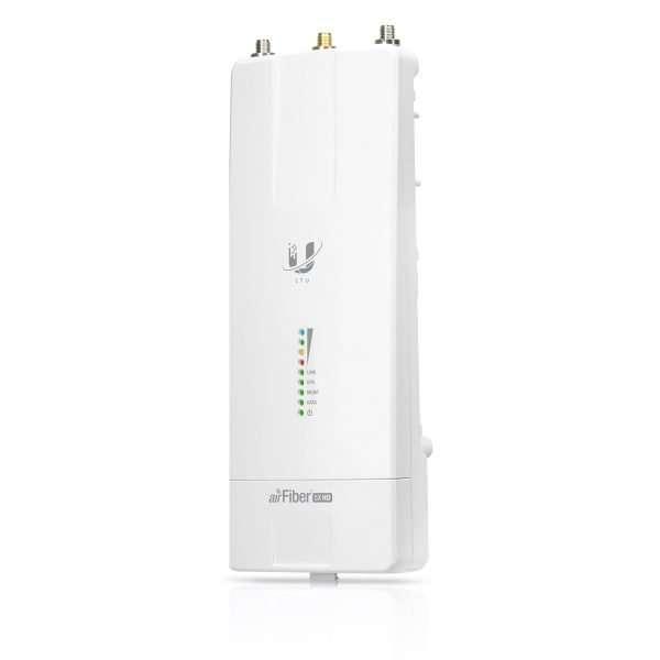 UbiquitiAF-5XHD airFiber Access Point, tecnología HDD para mayor eficiencia espectral, potencia max. 29dBm. Trabaja con tecnología MIMO con doble polarización. Diseñado para exteriores.