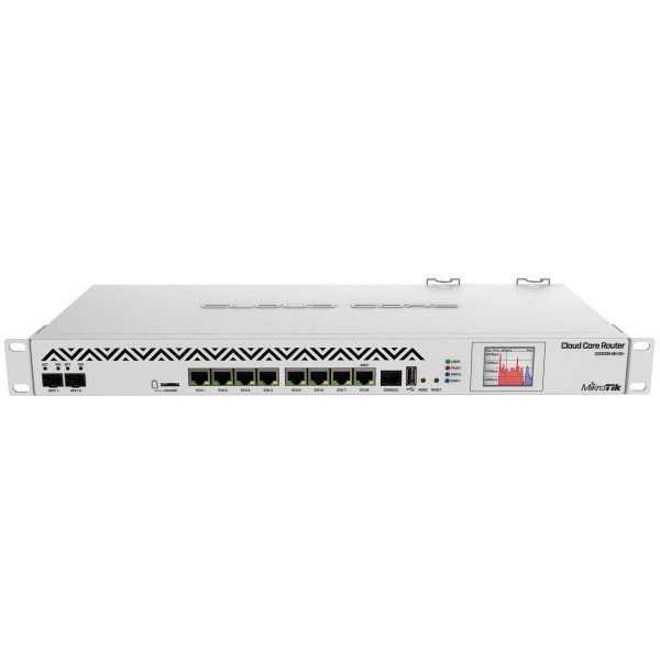 Mikrotik RouterBOARD CCR1036-8G-2S+EM poderoso enrutador rackeable con CPU de 36 núcleos de 1.2GHz mas 8GB RAM, puerto USB, microSD, interfaz M.2 y SFP+ con RouterOS Lvl6.