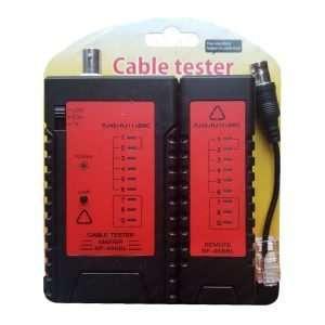 LAN-TESTER comprobador testeador de cables de red y conectores BNC. Requiere batería no incluida.