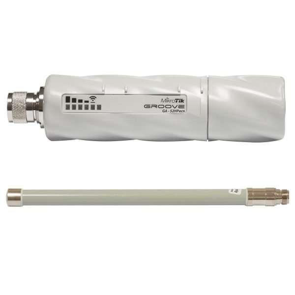 Mikrotik RBGrooveGA-52HPacn Access Point, con Antena Omnidireccional, potencia max. 500mW. Para uso en exteriores. Lv4
