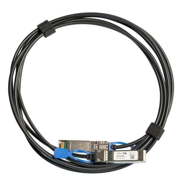 MikroTik cable transceptor S+DA0003 de 3m de SFP+ a SFP+ para conexión directa.