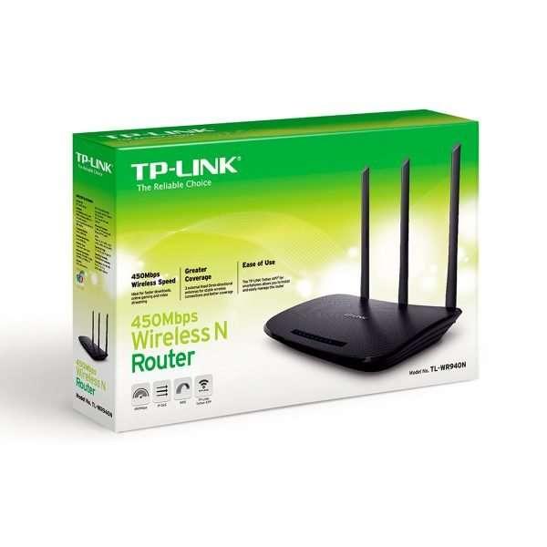 TB-Link TL-WR940N Router Wireless N Triple Antenas Omnidireccionales Fijas de 9dBi 2.4GHz hasta 450Mbps.