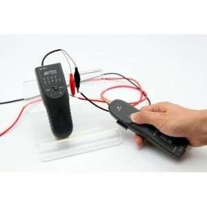 WIRE TRACKER NF-811 seguidor de tonos para de cables de red y patchcords con conectores RJ-45 y RJ-11. Permite cables de hasta 2km de largo. Requiere batería no incluida.