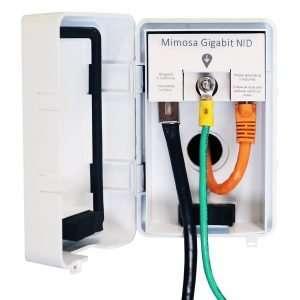Mimosa NiD Protector Ethernet Gigabit Contra Descargas ESD/EMD. Recomendado para todos los equipos Mimosa y de otras marcas. Especial para uso en exteriores.