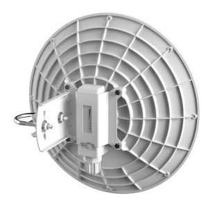 antena tipo plato vista posterior