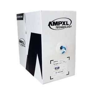 Delta AMPXL AM-UTP6-BCRollo de cable 305mts LSZH Antiflama CAT6 100% Cobre color azulpresentaciónen caja de cartón. Para Interiores.
