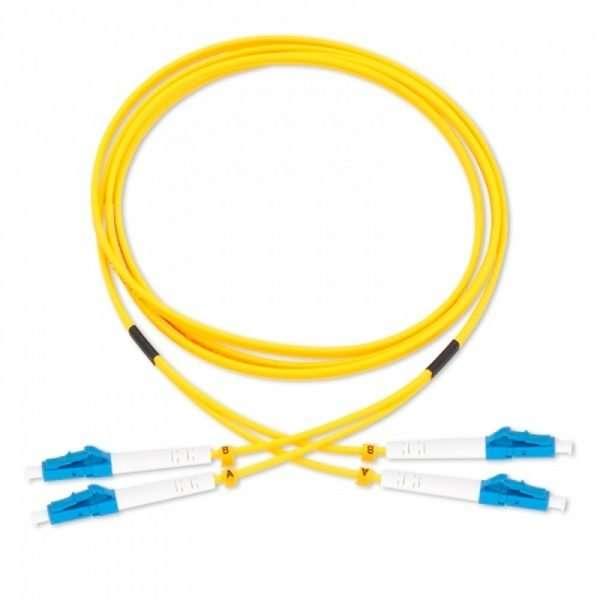 Connection CFO-4105 patch cord de Fibra Optica dúplex SM conectorizado LC/UPC a LC/UPC de 5 metros conectar a roseta en infraestructura FTTH GPON en las premisas del cliente.
