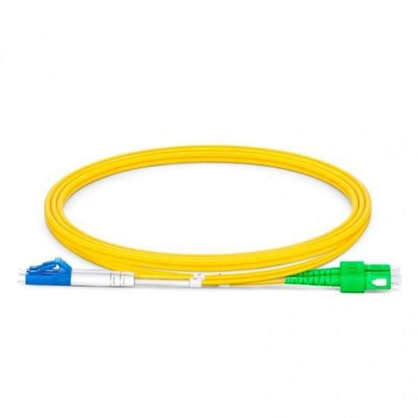 Connection CFO-5003 patch cord de Fibra Optica dúplex SM conectorizado SC/APC a LC/UPC de 3 metros conectar a roseta en infraestructura FTTH GPON en las premisas del cliente.