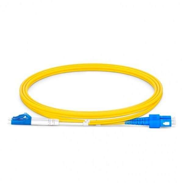 Connection CFO-5302 patch cord de Fibra Optica dúplex SM conectorizado SC/UPC a LC/UPC de 2 metros conectar a roseta en infraestructura FTTH GPON en las premisas del cliente.