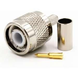 L-COM ATM-1700 Conector TNC macho para ponchar compatible con CA-195R, RG58 / 141/142, L-com CA195RW, WBC / LMR®195, Belden 8240/8219.