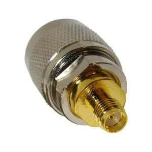 L-COM AXA-NMSF Adaptador Coaxial SMA hembra a N-macho diseñado en una sola pieza de metal sólido de baja pérdida. Ideal para extensiones o adaptaciones entre sistemas o dispositivos RF.