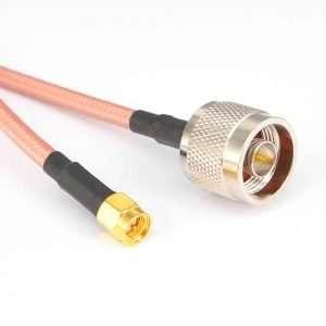 NetPoint J-NM-SMA Pigtail RP-SMA plug a N-male de 50 centímetros de longitud en cable 240-Series certificado y sintonizado para la banda de 5GHz.