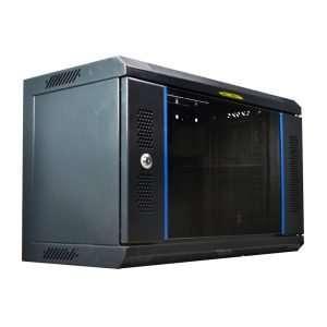 """Connection CC066030368 Soporte Rack Bastidor Gabinete cerrado de pared de 6u Rackeables de 19"""" bastidor estándar con puerta de vidrio y una profundidad total de 30cms, fabricada en metal color Negro. No incluye accesorios."""
