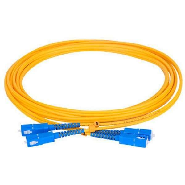 Connection CFO-7120 patch cord de Fibra Optica monomodo dúplex conectorizado SC/UPC a SC/UPC de 20 metros conectar a roseta en infraestructura FTTH GPON en las premisas del cliente.