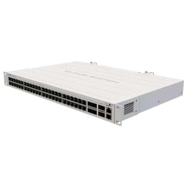 "Mikrotik CRS354-48G-4S+2Q+RM Cloud Router Switch 48 Puertos Gigabit con cuatro puertos SFP+ 10Gbps y dos QSFP+ de 40G, administrable. Para uso en interiores rackeable de 1ur 19""."